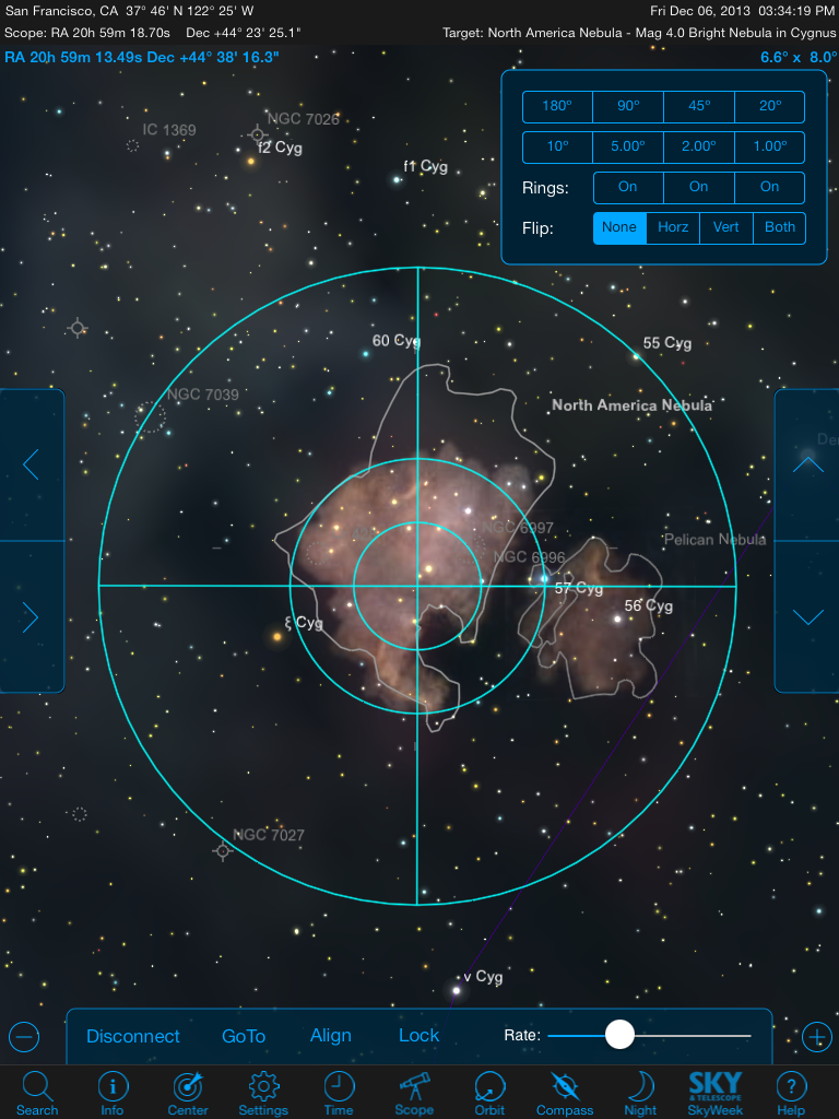 Controlling your GoTo telescope using StarSeek 5 from an iPad sure beats using the scope's native hand controller